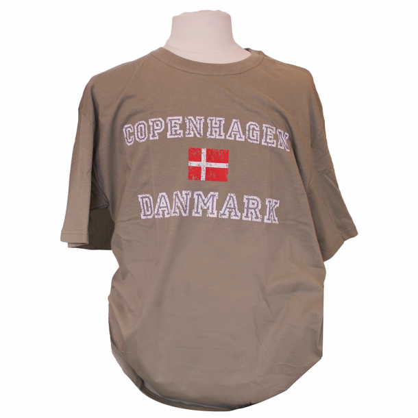 T shirt Flag Khaki Grøn T shirts Scandinavian Souvenir ApS